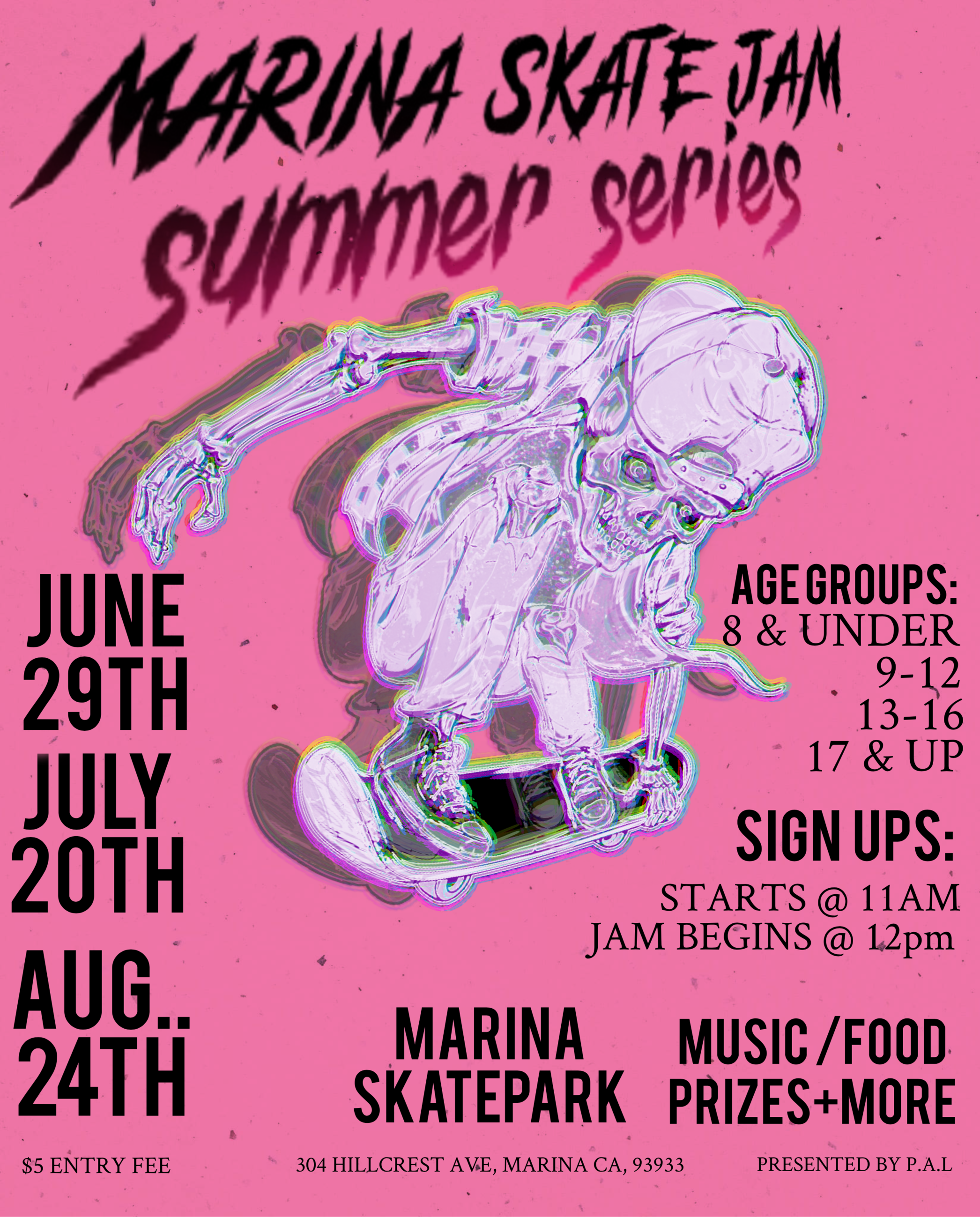 Skate Jams Summer Series Flyer